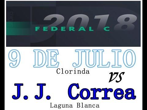 JUAN JOSE CORREA (Lag. Blanca)  2  vs 9 DE JULIO (Clorinda)  0