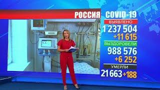 Суточный прирост по коронавирусу в России вплотную приблизился к майскому пику