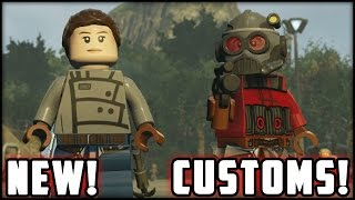 LEGO Star Wars The Force Awakens - Customs - Creating Jyn Erso & Star-Lord!