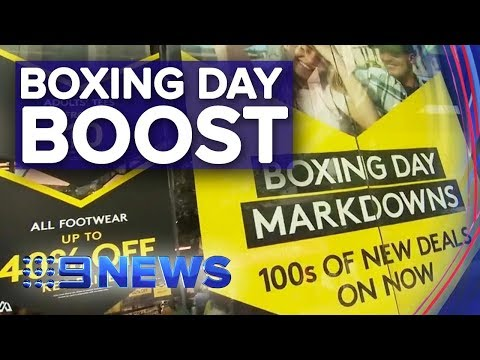 Boxing Day Sales To Send Retailers Into A Financial Frenzy | Nine News Australia