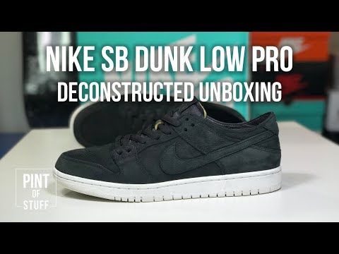 online store a434f e9147 Nike SB Zoom Dunk Low Pro Deconstructed Black Unboxing with ...