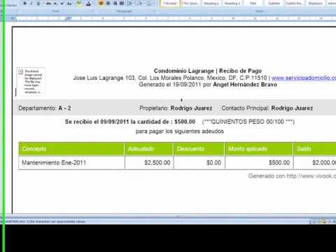 imprimir o enviar recibos de pago youtube