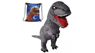 BEST SELLER Halloween Costume Reviews! Inflatable Dinosaur Trex Costume Adult Size-Blow Up T-Rex..
