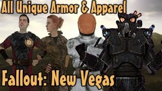 Fallout New Vegas - All Unique Armor Apparel Guide Vanilla
