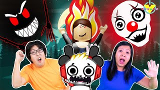 Ryan's Parents VS Scariest Roblox Games! Let's Play Roblox Great Escapes