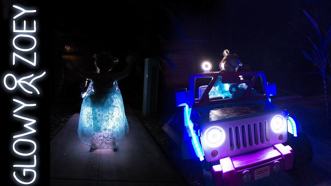 glowy zoey 2015 halloween costume lightup elsa dress youtube - Halloween Led Costume