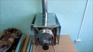 Печь дровяная мобильная. Печь буржуйка (Видео обзор)