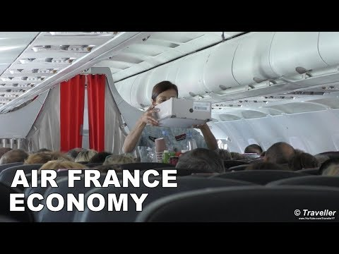 AIR FRANCE ECONOMY CLASS flight to Paris - Airbus A319 Flight Review