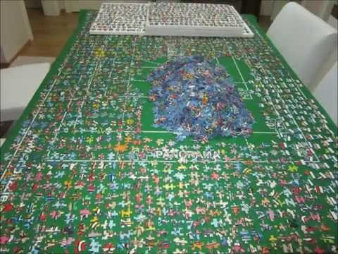 5000 piece puzzle james rizzi stop motion youtube for Custom 5000 piece puzzle