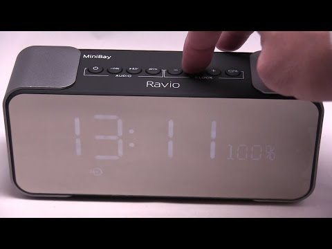 Bluetooth Alarm Clock Radio Review & Bluetooth Speaker Audio Test - Ravio