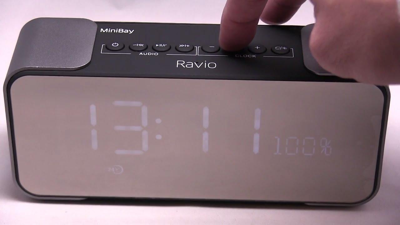 Bluetooth Alarm Clock Radio Review & Bluetooth Speaker Audio Test - Ravio