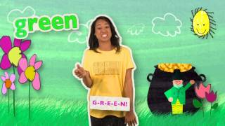 The GREEN Song | HeidiSongs' Sing & Spell Colors!