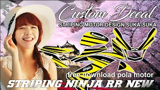 Video Striping NINJA RR NEW + Free Download Pola Striping Motor - Super Yellow Concept download MP3, 3GP, MP4, WEBM, AVI, FLV September 2018