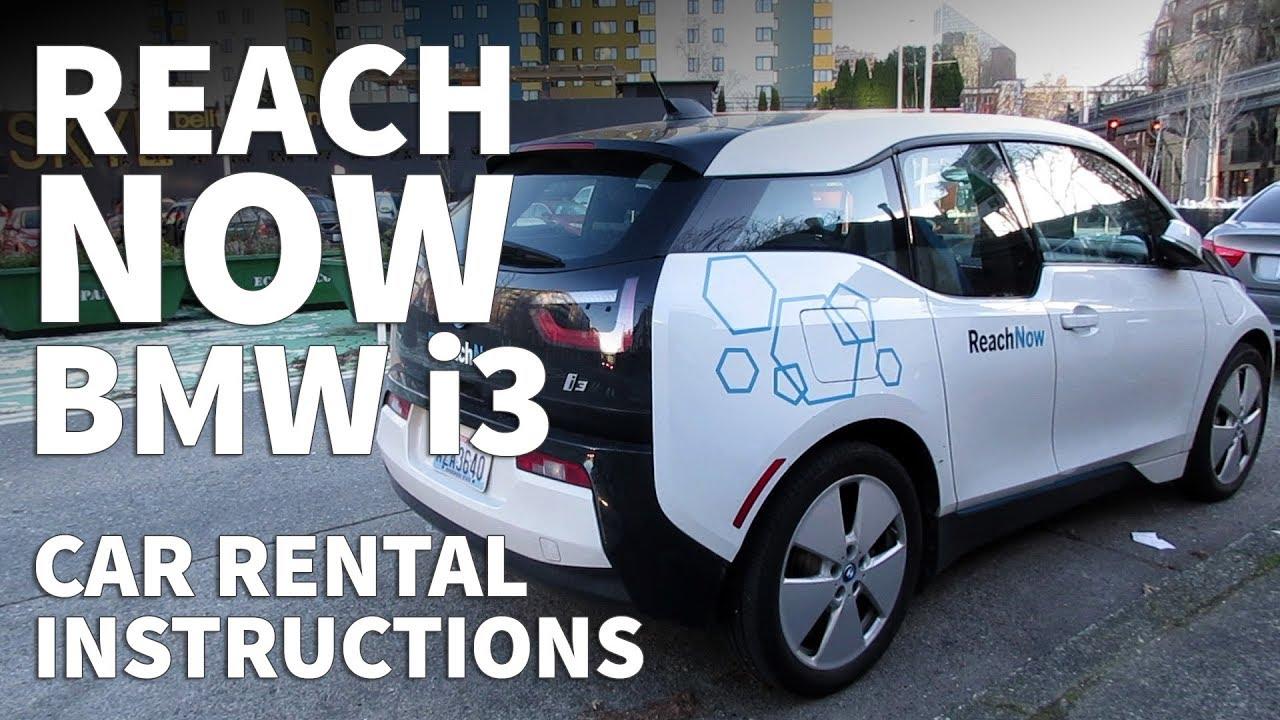Reachnow Bmw I3 Car Rental Instructions How To Rent Reachnow In