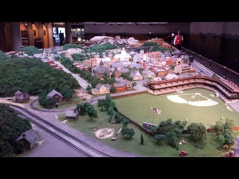 Largest miniature train display at Carnegie science center (HD)