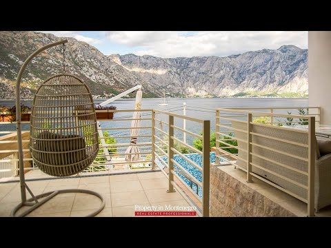 Luxury seafront villa for sale in Stoliv, Boka Bay - Property in Montenegro