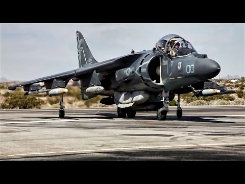 AV-8B Harriers Takeoff Refueled \u0026 Rearmed