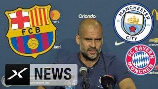 "Pep Guardiola: ""So lange wie möglich bei Manchester City"" | Manchester City | Premier League"