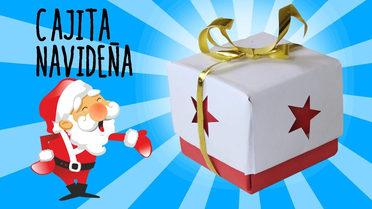 C mo hacer una caja navide a para regalar youtube - Hacer una tarjeta navidena ...