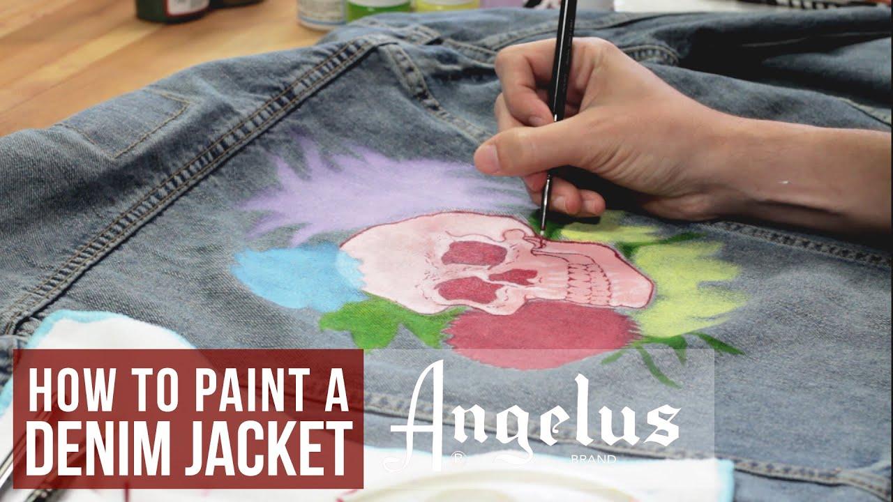 How to Paint a Denim Jacket   Angelus Paints