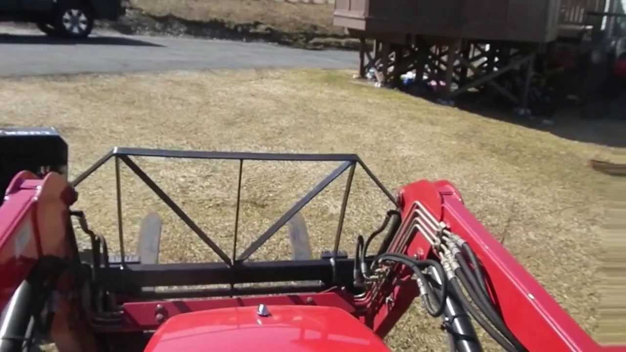 Homemade Skid Steer Quick Attach Ssqa Youtube