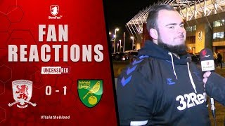 AJT WE SHOULD OF BEEN 2 OR 3 UP FIRST HALF!! | FAN REACTIONS | MIDDLESBROUGH 0 Norwich 1