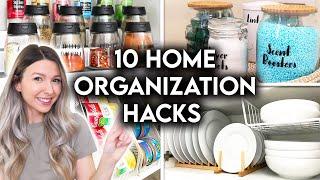 10 CLEVER HOME ORGANIZATION IDEAS + STORAGE HACKS