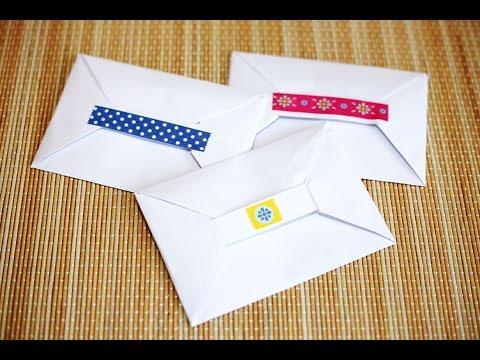 How to Fold a Paper Envelope - Origami - วิธีพับซองจดหมาย