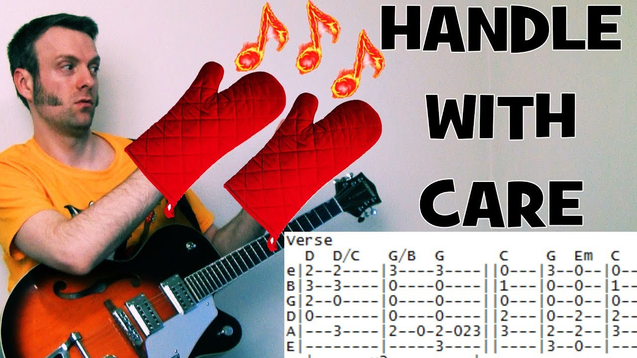 Traveling Wilburys Handle With Care Guitar Tab Chords Lesson Youtube