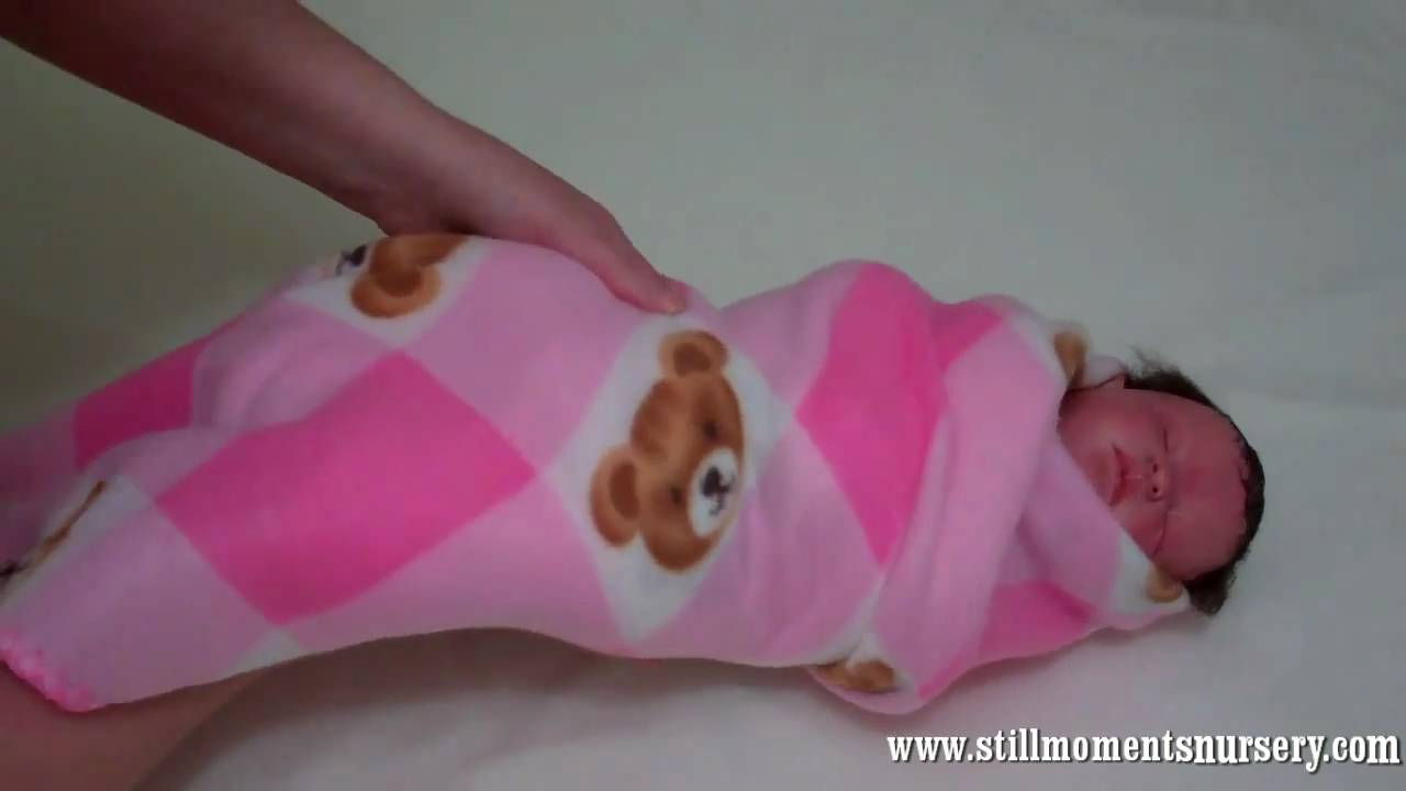 How To Wrap Up Swaddle Your Reborn Baby Doll Nikki