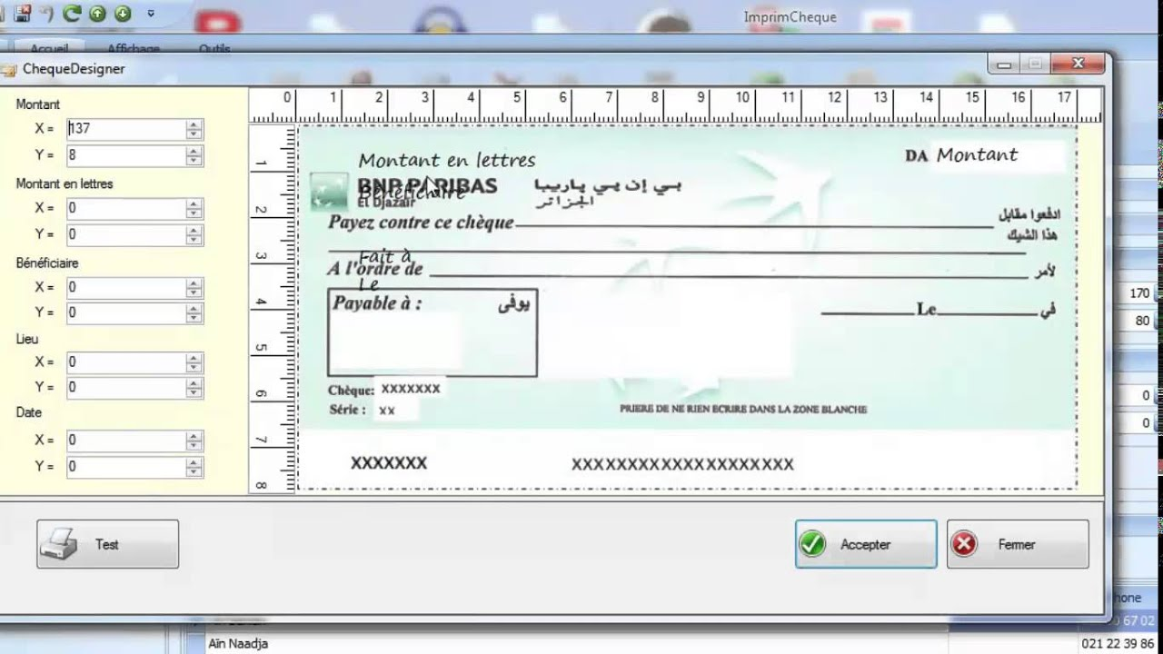 imprimecheque ajuster limpression dun cheque youtube