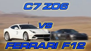 Corvette Z06 vs Ferrari F12berlinetta