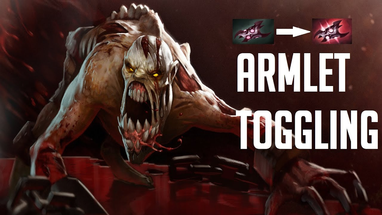 how to armlet toggle with lifestealer dota 2 youtube