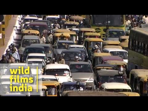 Massive traffic jam in New Delhi