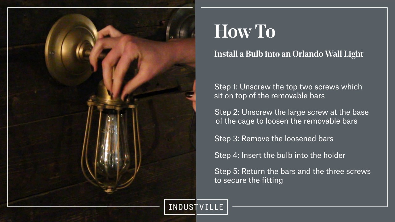 Industville how to remove or install a bulb from an orlando vintage industville how to remove or install a bulb from an orlando vintage wire cage light arubaitofo Images