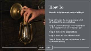Industville: How to Remove or Install a Bulb from an Orlando Vintage Wire Cage Light