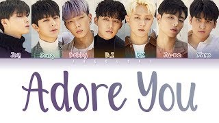 iKON (아이콘) - 'ADORE YOU (좋아해요)' LYRICS (Color Coded Lyrics Eng/Rom/Han/가사)