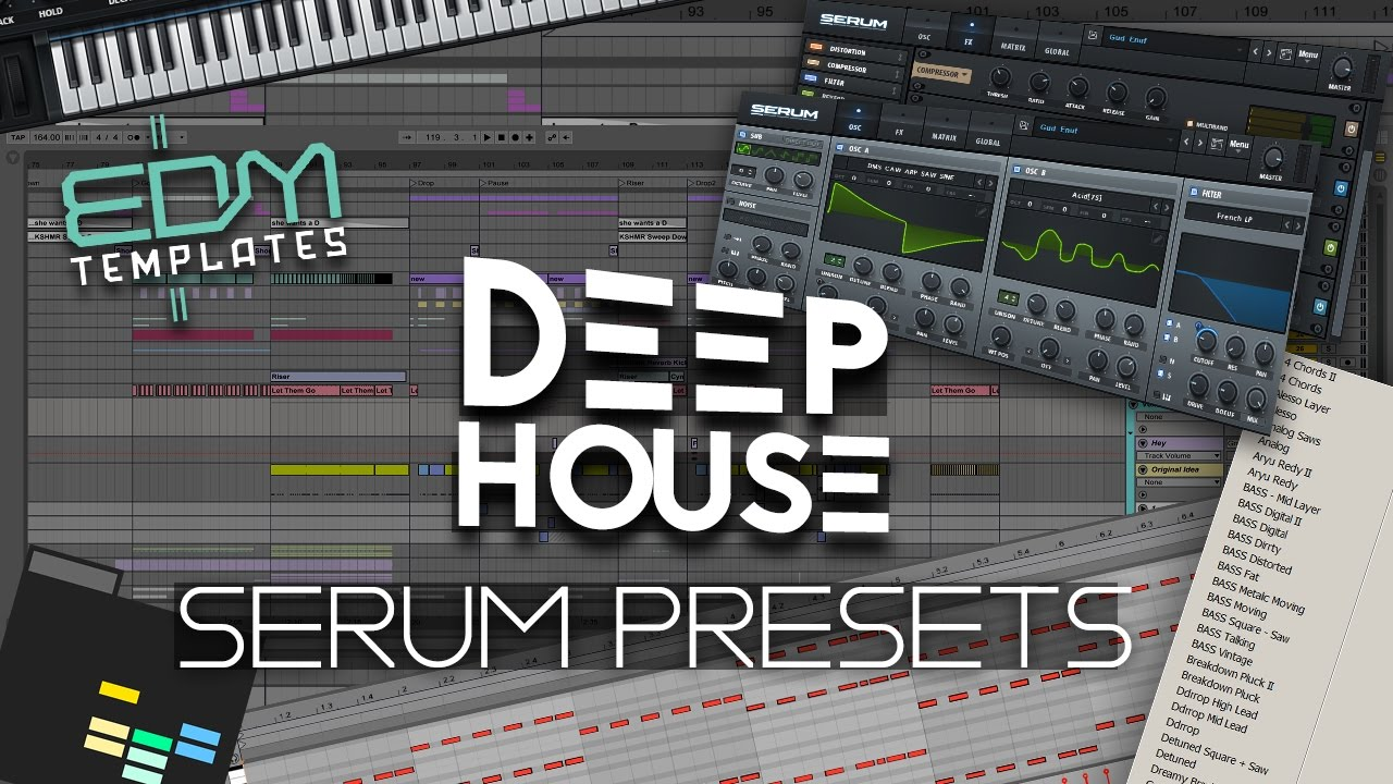 FREE Serum Deep House Preset Pack (20 Bass & 10 Lead Presets For Xfer Serum)