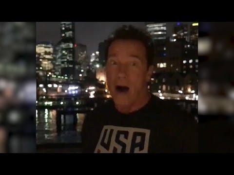 Arnie trolls Donald  'You got swamped  Wow!'