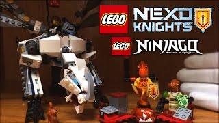 LEGO Nexo Knights Ultimate Flama Battle Pack Review + Ninjago Zane's Titanium Dragon Set