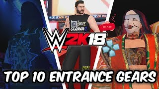 WWE 2K18 PSP, Android/PPSSPP - Top 10 Wrestler Entrance Gears