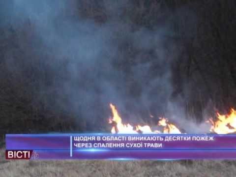 Щодня в області виникають десятки пожеж через спалення сухої трави