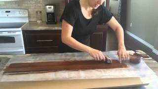 Paper Bag Flooring - Wood grain tool technique video - paperbagflooring.com
