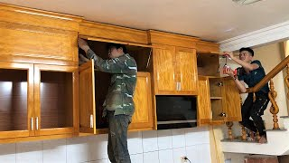 Build Wall Mounted Kitchen Modern Cupboard with Hardwood Fastest 🔨 Woodworking Projects For Kitchen