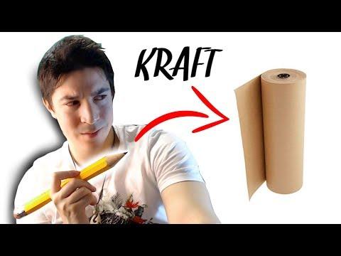 JE TESTE le DESSIN sur papier KRAFT !