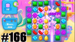 Candy Crush Soda Saga Level 166 | CLEAR THE BUBLE GUM! Complete!