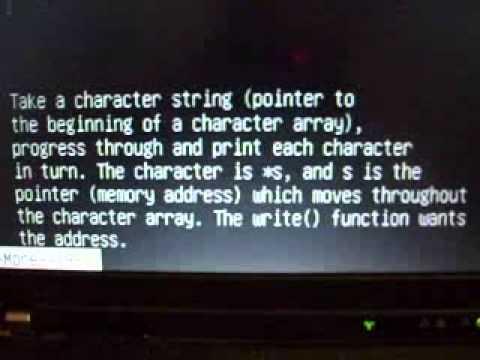 C program scrolling a message (v2)