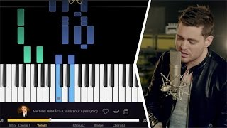 CLOSE YOUR EYES - MICHAEL BUBLE || PIANO COVER SONG TUTORIAL EASY