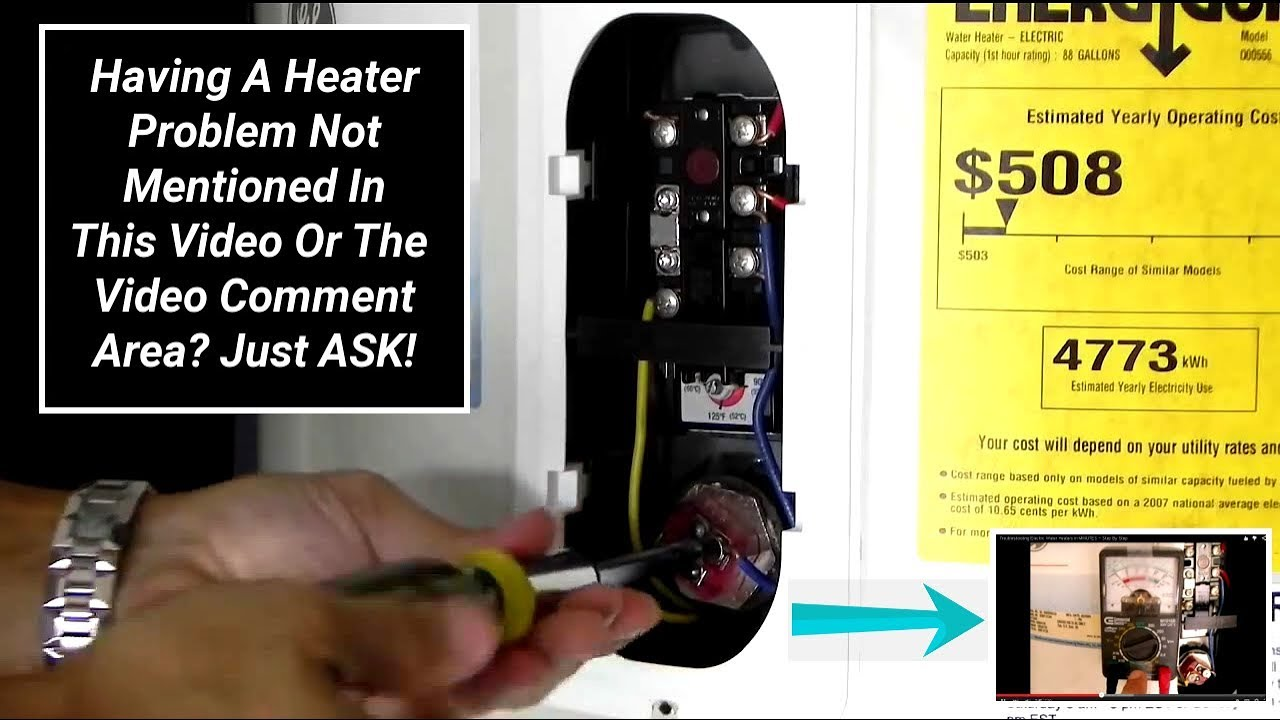 Troubleshooting Electric Water Heaters In Minutes Step By Ge Heater Wiring Diagram Youtube