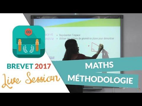Brevet 2017 : Méthodologie pour les Maths en live avec digiSchool